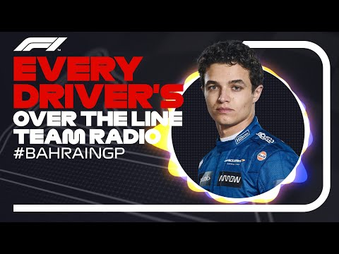 Every Driver's Radio At The End Of The Race | 2021 Bahrain Grand Prix