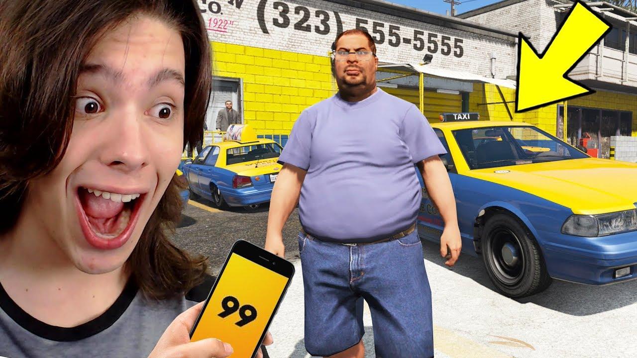 JOGANDO GTA 5 COMO UM TAXISTA!! (Incrível)