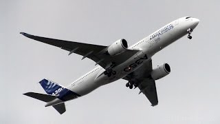 *Airbus A350-941 in Action! Landing and Takeoffs! 1ST UK VISIT! Great Display - Cotswold Airport*