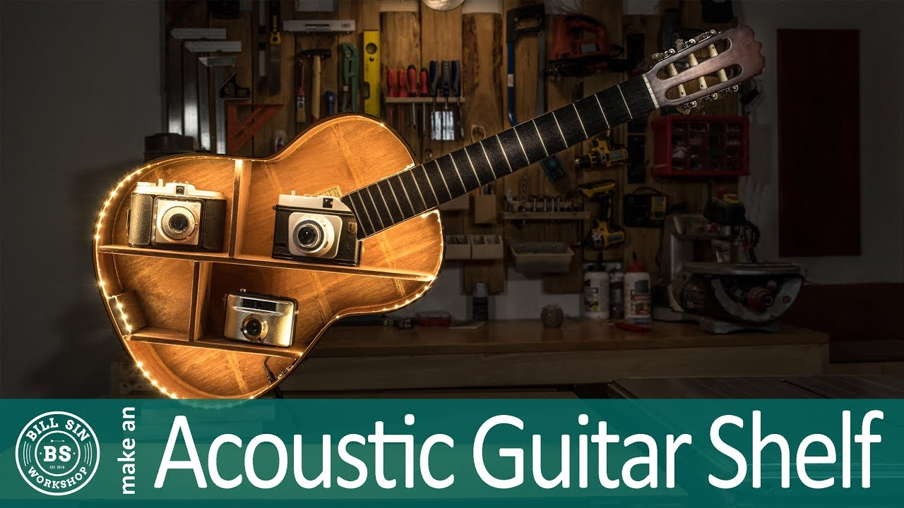 make guitar shelf how to make an acoustic guitar shelf youtube. Black Bedroom Furniture Sets. Home Design Ideas
