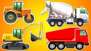 Dibujos animados en español completos 20 MIN. Excavador, Hormigonera, camión Autos Infantiles coche.