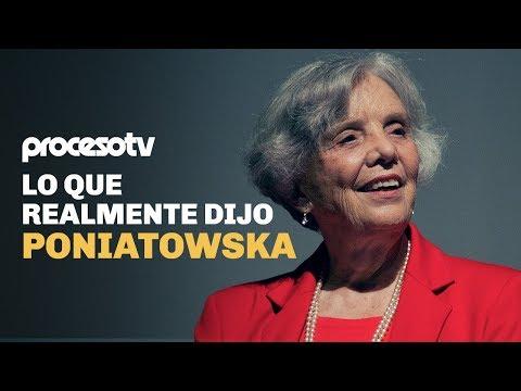 Lo que realmente dijo Poniatowska