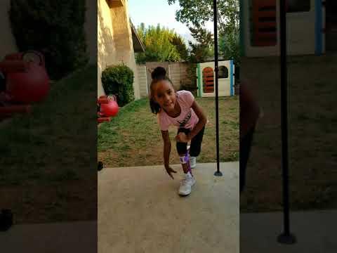 Zamirah with arthrogryposis running