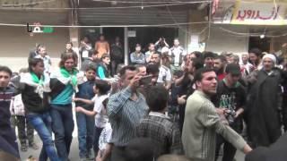 سقبا 8-4-2016 شهيد يارايح .. رايح على الجنة  في جمعة (( حلب تثأر )) بمظاهرة أحرار سقبا الشموخ
