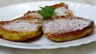 Самые вкусные ,пышные фруктовые оладушки. Рецепты Алины.