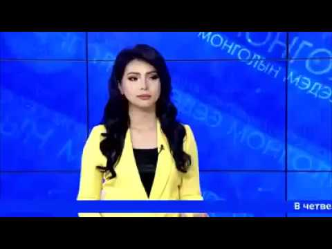 Mongolian newsperson showing off her Russian language skill. She speaks better Russian