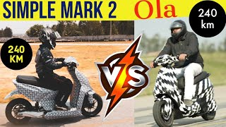 Simple Mark 2 vs Ola Electric Scooter in India | Specs, Features & Price Comparison