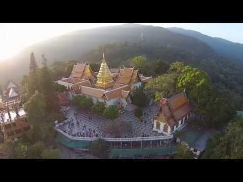 Wat Phra That Doi Suthep, seen from a Drone Part 1/2 (Uncut) HD