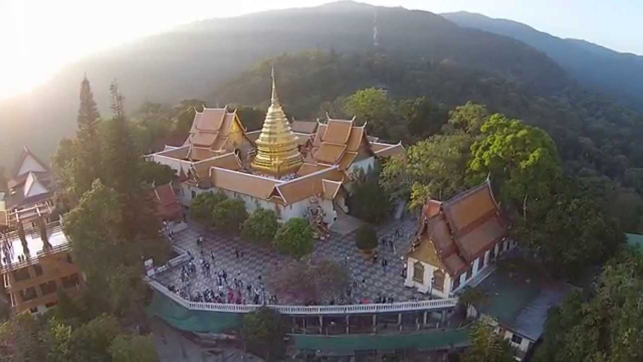 Wat Phra That Doi Suthep, seen from a Drone Part 1/2 ...