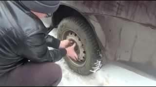 Замена установка и снятие заднего колеса ВАЗ - Lada Granta