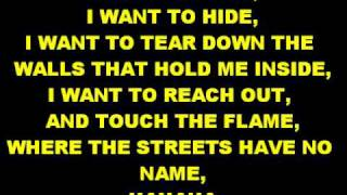 Where The Streets Have No Name-U2+Lyrics