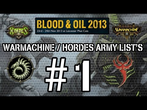 BLOOD & OIL 2013 - ARMY LIST'S #1