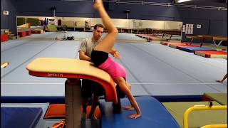Preparing a Back Handspring (Flic Flac)