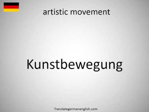 How to say artistic movement in German?