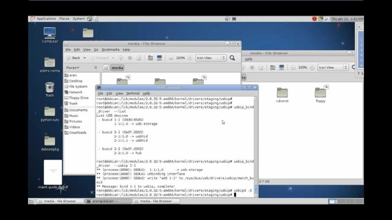 Usb over IP (usbip) on Linux Systems