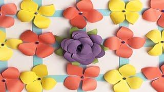 DIY Paper Flower Hanging Wall Decoration | কাগজের তৈরি জিনিস | কাগজের ফুল | হাতের তৈরি জিনিস
