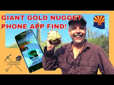 Giant Gold Nugget Found With Phone App!?!?