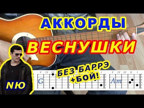 ВЕСНУШКИ Аккорды 🎸 NЮ Юрий Николаенко ♪ Разбор песни на гитаре ♫ Бой Текст