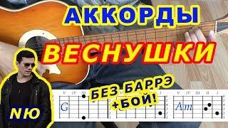 ВЕСНУШКИ Аккорды   NЮ Юрий Николаенко ♪ Разбор песни на гитаре ♫ Бой Текст