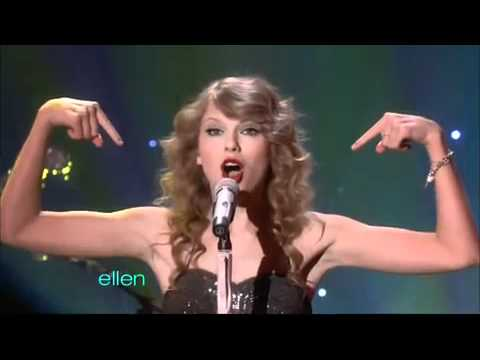 Taylor Swift - You Belong with Me - Live on Ellen DeGeneres