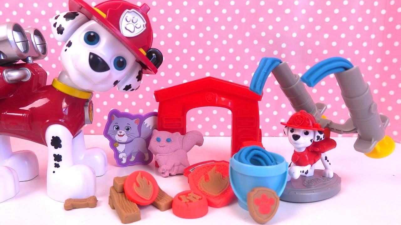 Pat' Patrouille Marcus Pompier Pâte à modeler Paw Patrol Play Doh Playset