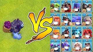 "YETI vs ALL TROOPS ""Clash Of Clans"" TROLL ATTACKS!!"