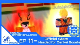 ROBLOX: Dragon Ball Rage Ep. 11- Official Stats Needed for Zenkai Boost