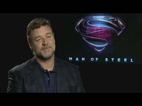 Man of Steel interview: Russell Crowe talks about starring in the film and working with Henry Cavill