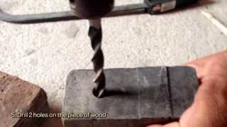 How To Make A Rustic Wooden Candle Holder - DIY Home Tutorial - Guidecentral