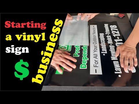 Starting a vinyl sign business