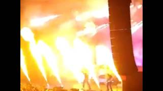 Amon Amarth -  live concert - Simply Amazing pyrotechnics - fire - October, 2016