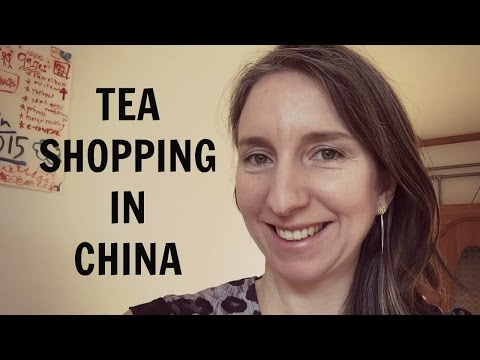 Green tea tasting in China