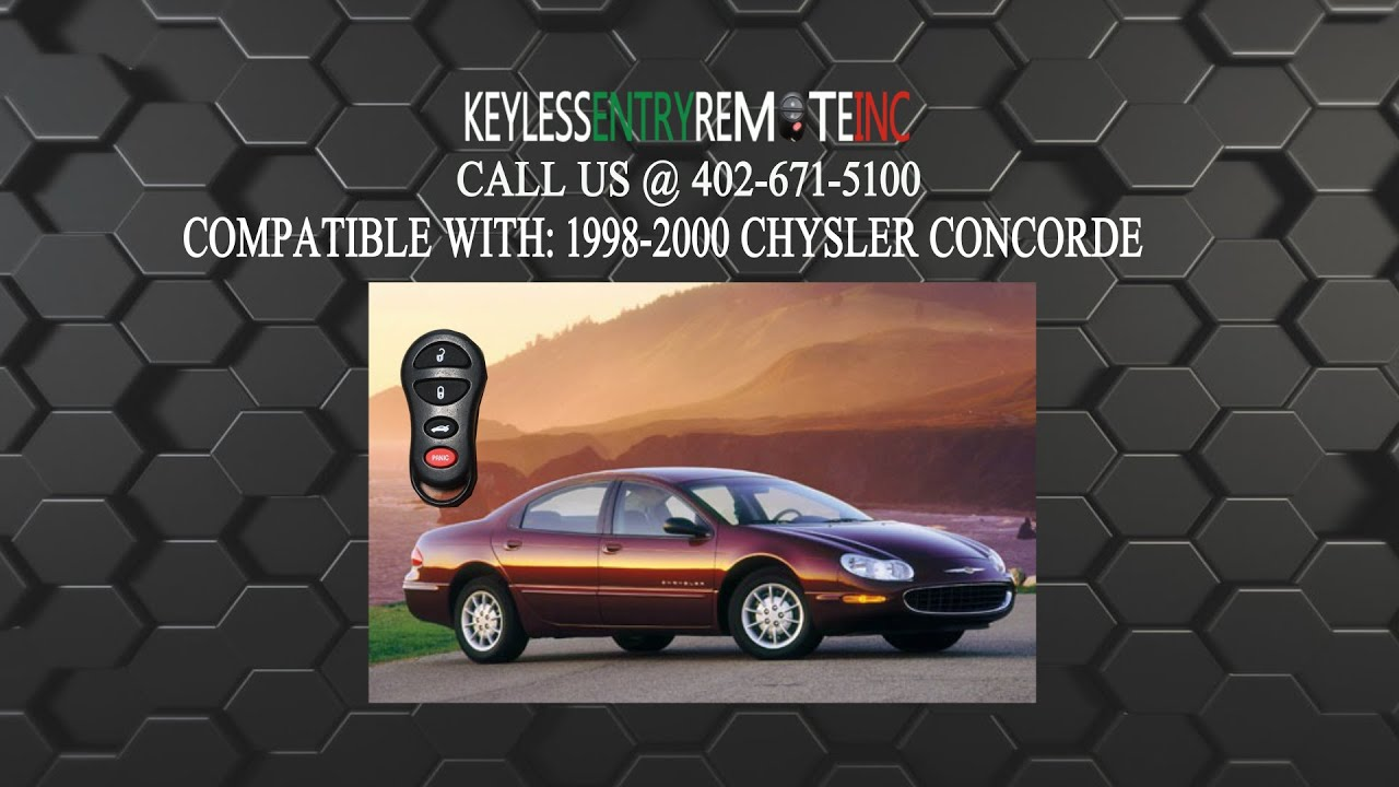 hight resolution of how to replace chrysler concorde key fob battery 1998 1999 2000
