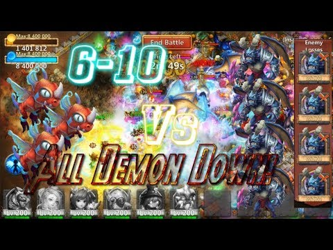 Killing All Demon On Dungeon 6-10 Fairy Dragon Action! Castle Clash