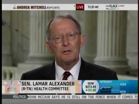 """Senator Lamar Alexander Talks about Health Care Reform and """"Cash for Clunkers"""""""