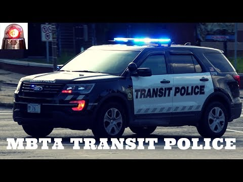RARE: MBTA Transit Police Responding Lights and Siren with Forward Red Lights