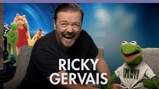 Ricky Gervais & Constantine talk 'Muppets Most Wanted'