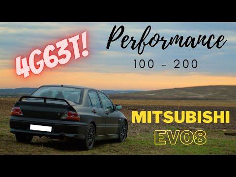 MITSUBISHI LANCER EVO 8 Acceleration 0-100 / 100-200 Km/h