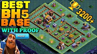 BUILDER HALL 5 (BH5) BASE LAYOUT WITH REPLAY | BEST BH5 BASE COC | CLASH OF CLANS
