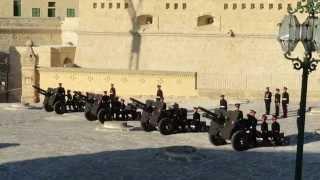 Armed Forces Of Malta 21- Gun Salute To Malta's New President - 4 April 2014