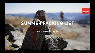 What To Pack For Your Summer Hike | VISIT NORWAY