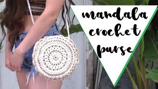 DIY Crochet Purse // Crochet Mandala Crossbody Bag