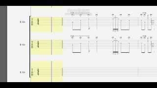 BOØWY Marionette -マリオネット- Guitar×3 TAB譜 thumbnail