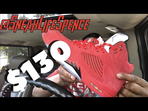 206676005971a0 Jordan 5 red suede review and on feet view