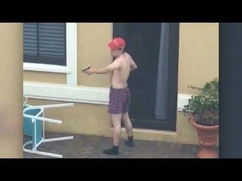 Neighbour's footage appears to  Florida gunman Nikolas Cruz's shooting practice  ITV