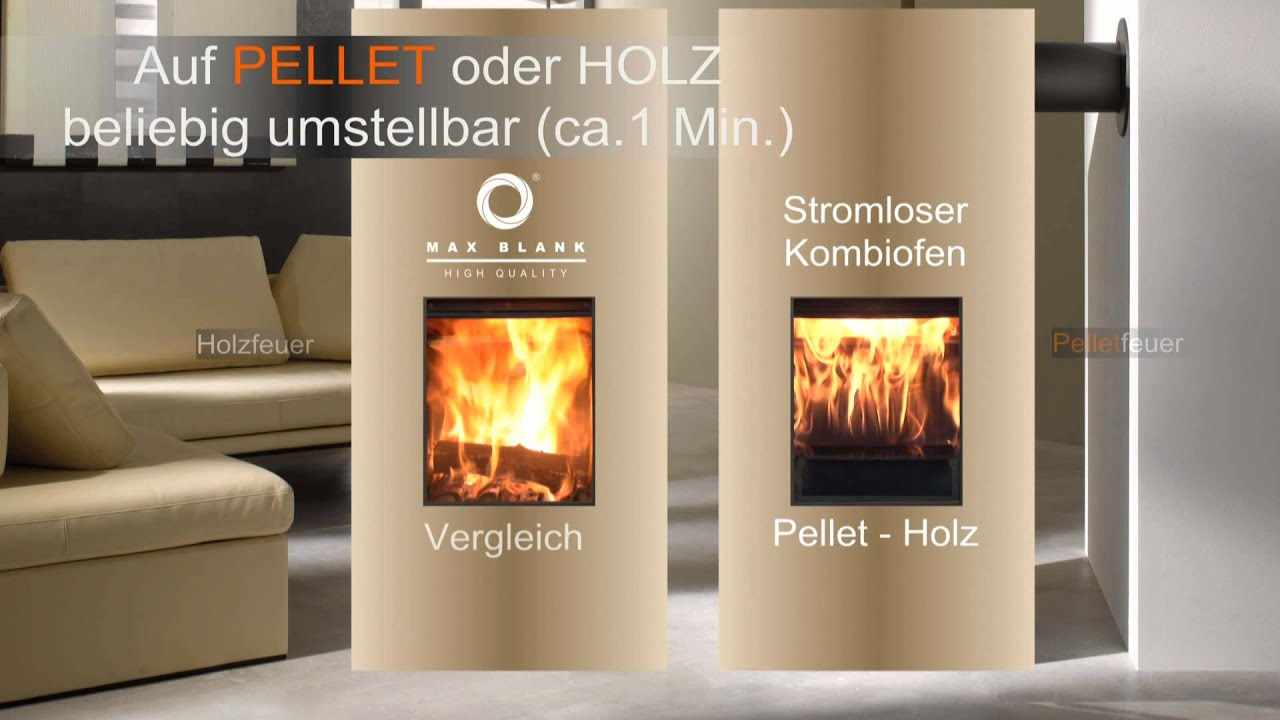 max blank pellet holzfeuervergleich 58s ko ii de youtube. Black Bedroom Furniture Sets. Home Design Ideas