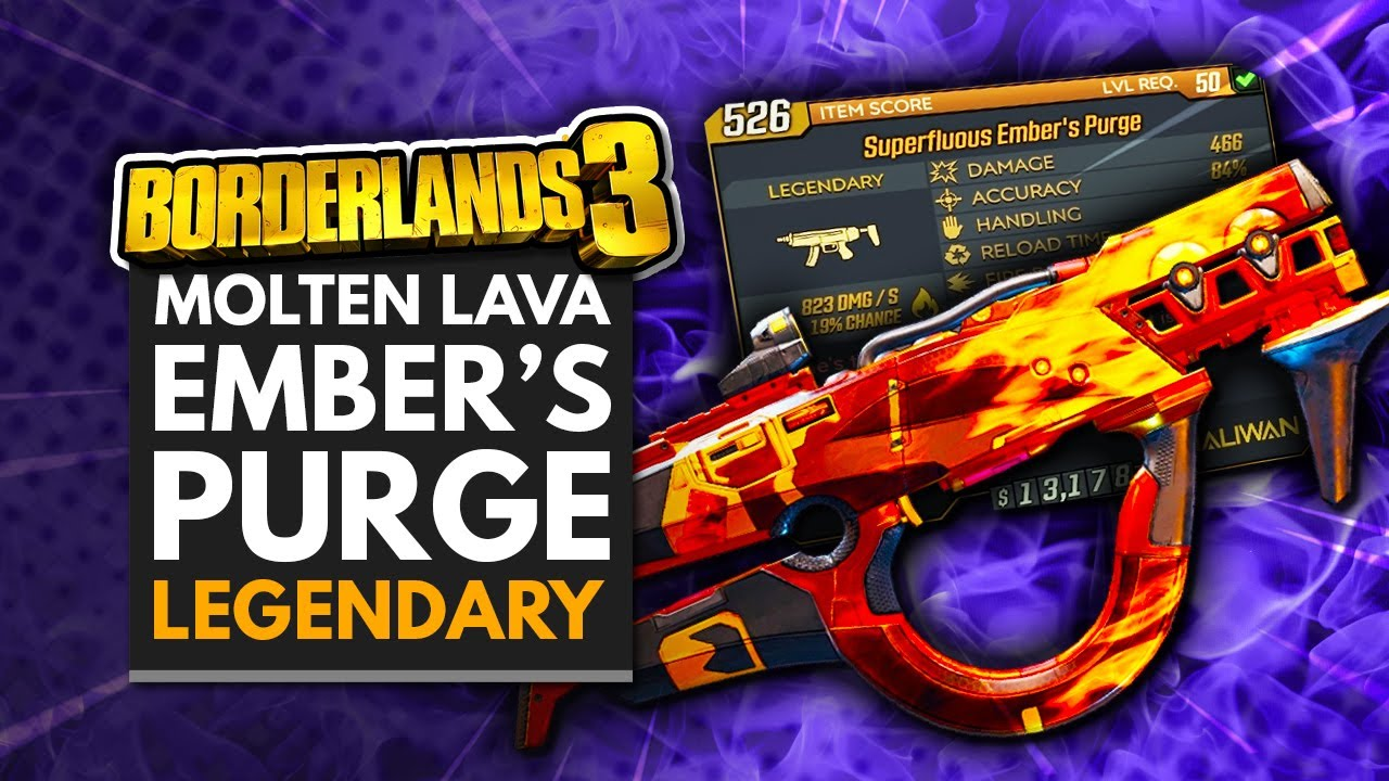 BORDERLANDS 3 | Molten Lava 'Ember's Purge' Legendary SMG Weapon Guide - Moxxi's Heist DLC 1 thumbnail