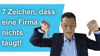 """""""Gute Firma oder Irrenanstalt?""""  Miese Firmen erkennen – 7 Tipps // M. Wehrle"""