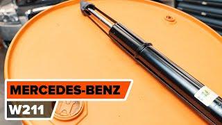 Hvordan bytte Glødelampe Nummerskiltlys MERCEDES-BENZ E-CLASS (W211) - online gratis video
