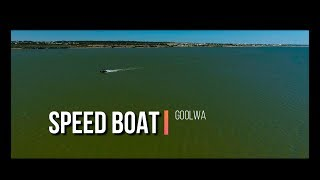 speed boat at goolwa